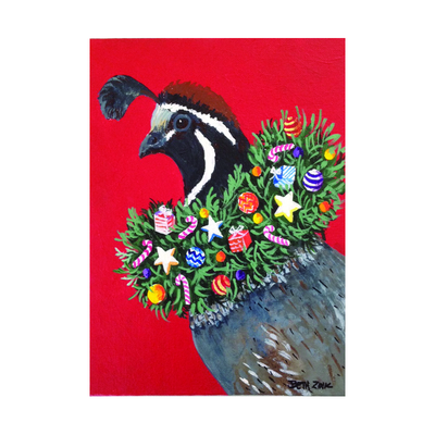 Wreathed Quail Holiday Cards