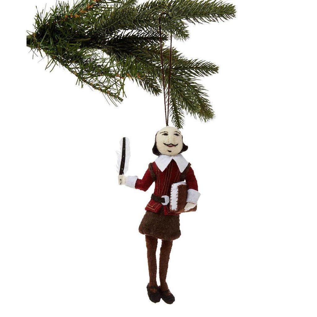 Shakespeare Felt Ornament