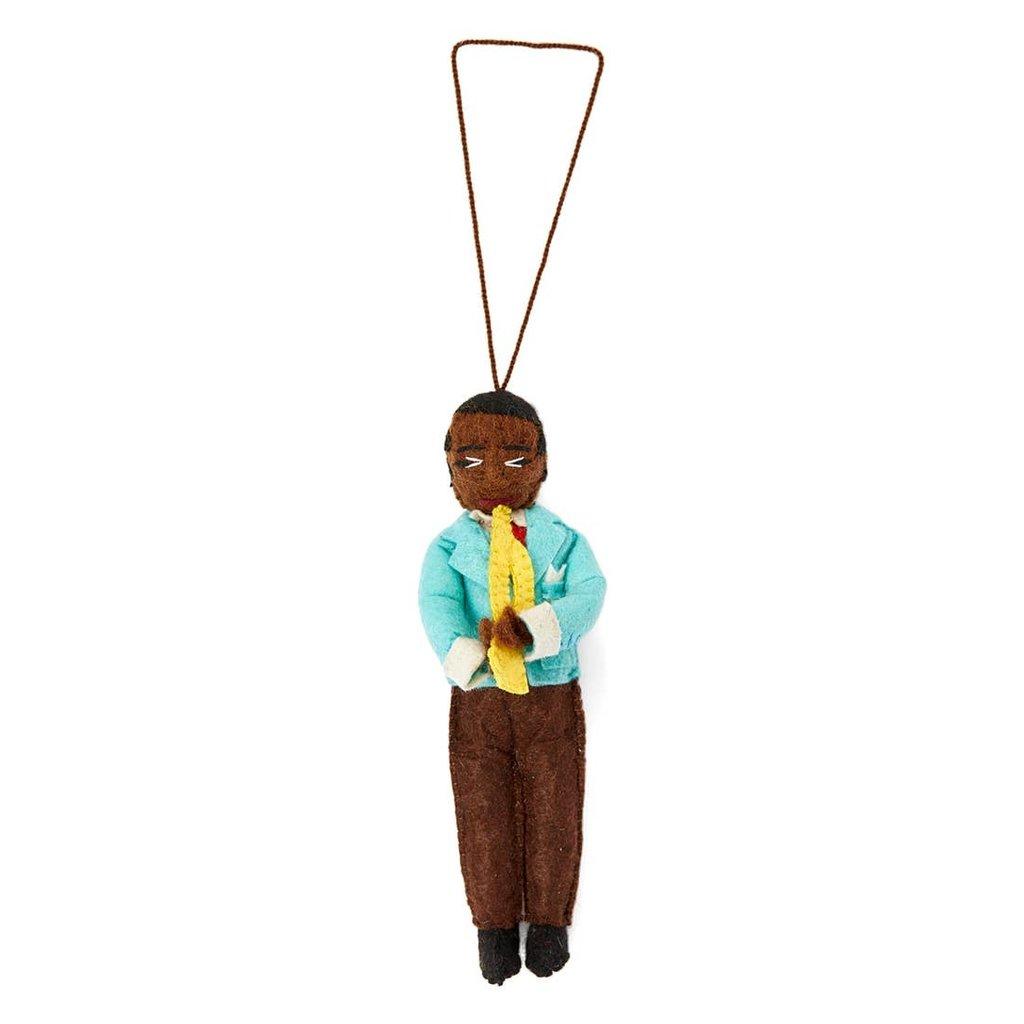Louis Armstrong Felt Ornament