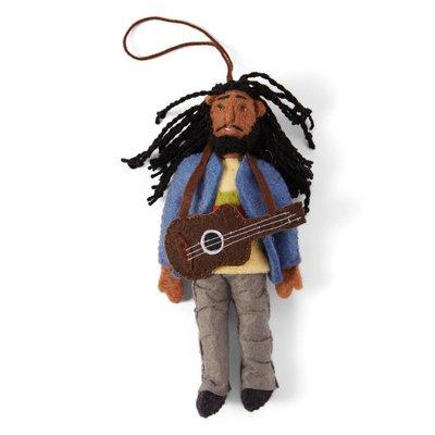 Bob Marley Felt Ornament