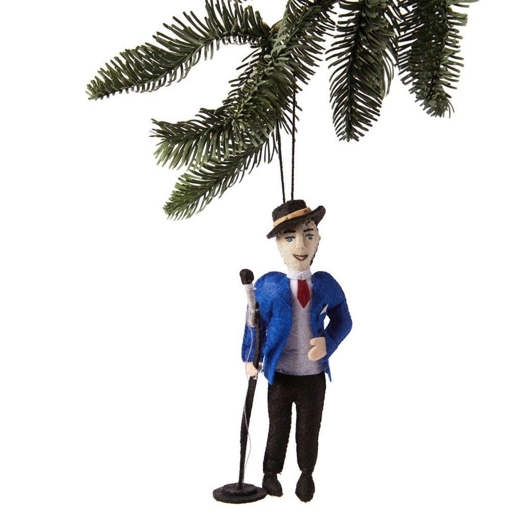 Frank Sinatra Felt Ornament