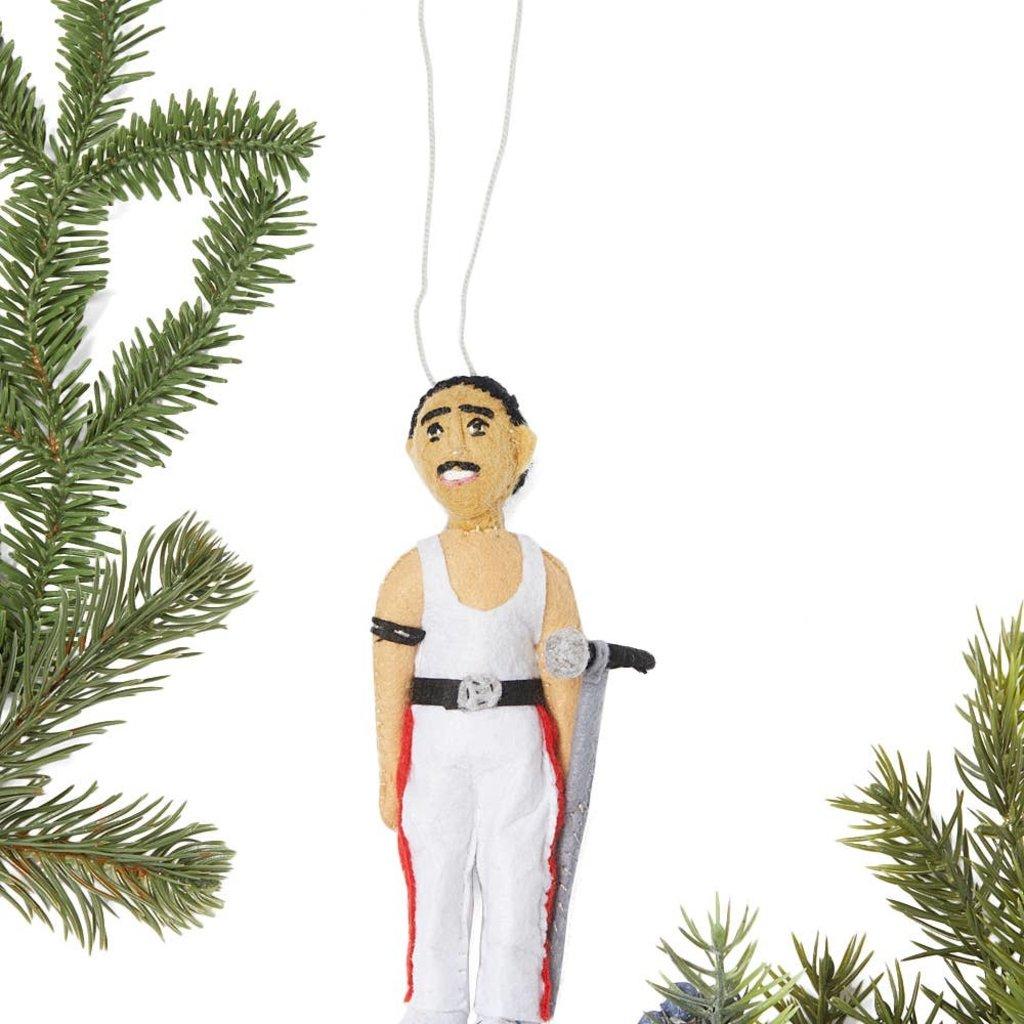 Freddie Mercury Felt Ornament