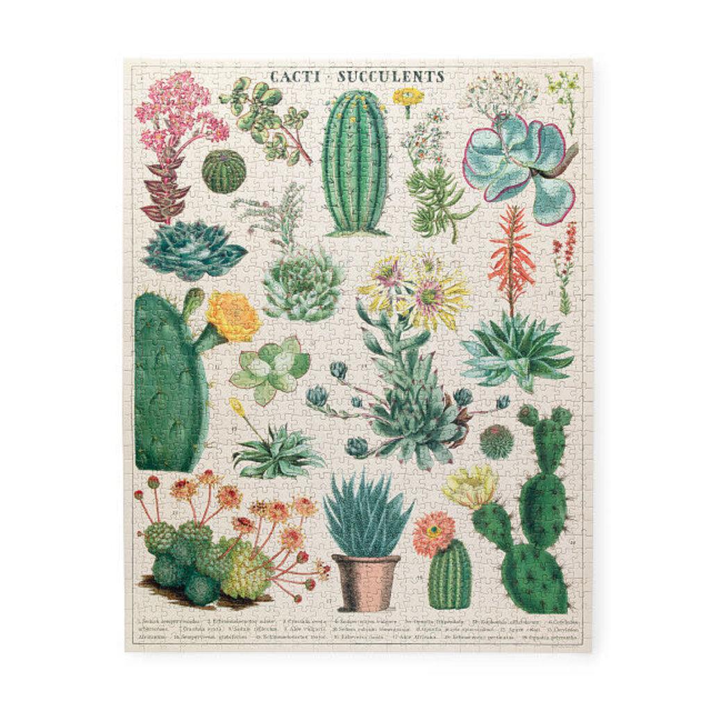 Cacti & Succulents Vintage Puzzle