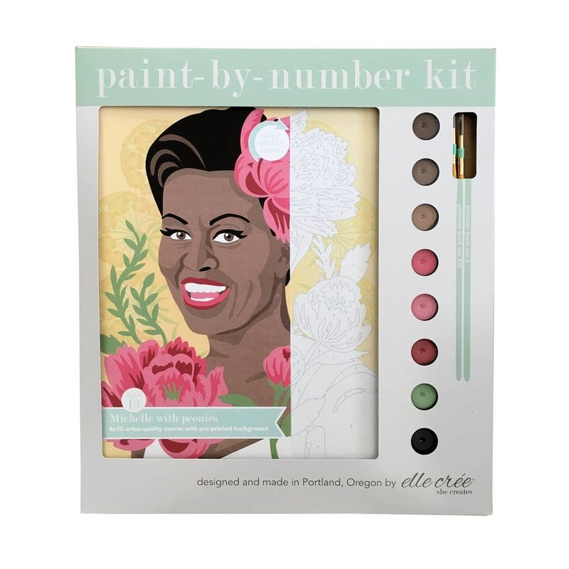 Michelle Obama Paint by Number Kit