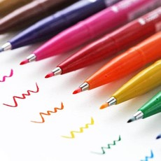 Modern Calligraphy Brush Tip Markers Set/12