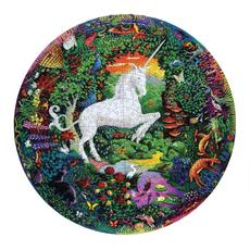 Unicorn Garden  Round Puzzle