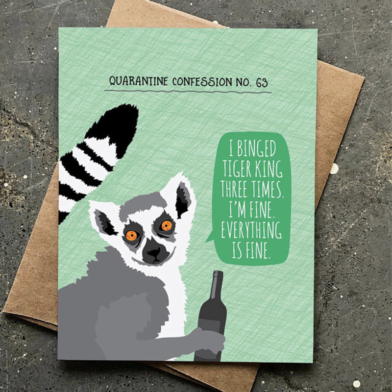 Modern Printed Matter Quarantine Confession Tiger King Card