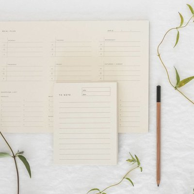Ramona & Ruth Weekly Meal Planner Pad