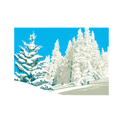 Winters Snow Holiday cards