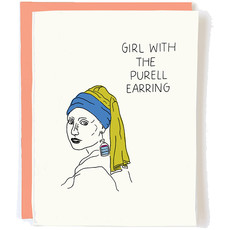 Girl with the Purell Earring Card