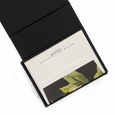 PETITE BLACK SILK STATIONERY BOX