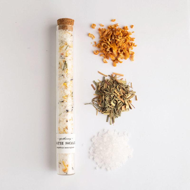 Bath Soak Test Tube Grapefruit Lemongrass