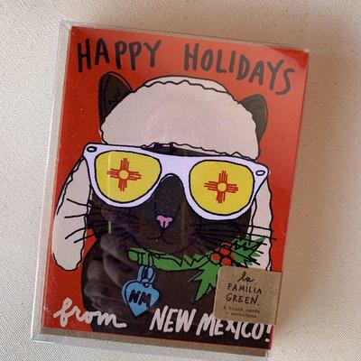 La Familia Green New Mexico Cat Boxed Holiday Cards