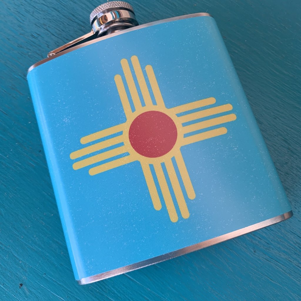 New Mexico Zia Flask Turquoise