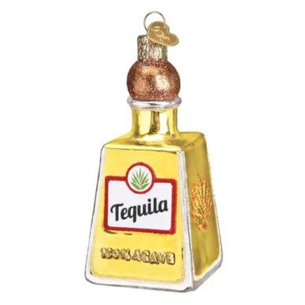 Tequila Bottle Ornament Old World Christmas