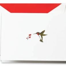 Crane Stationery Hummingbird Engraved  Note Crane