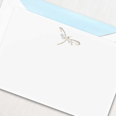 Crane Stationery Dragonfly Engraved Cards Crane