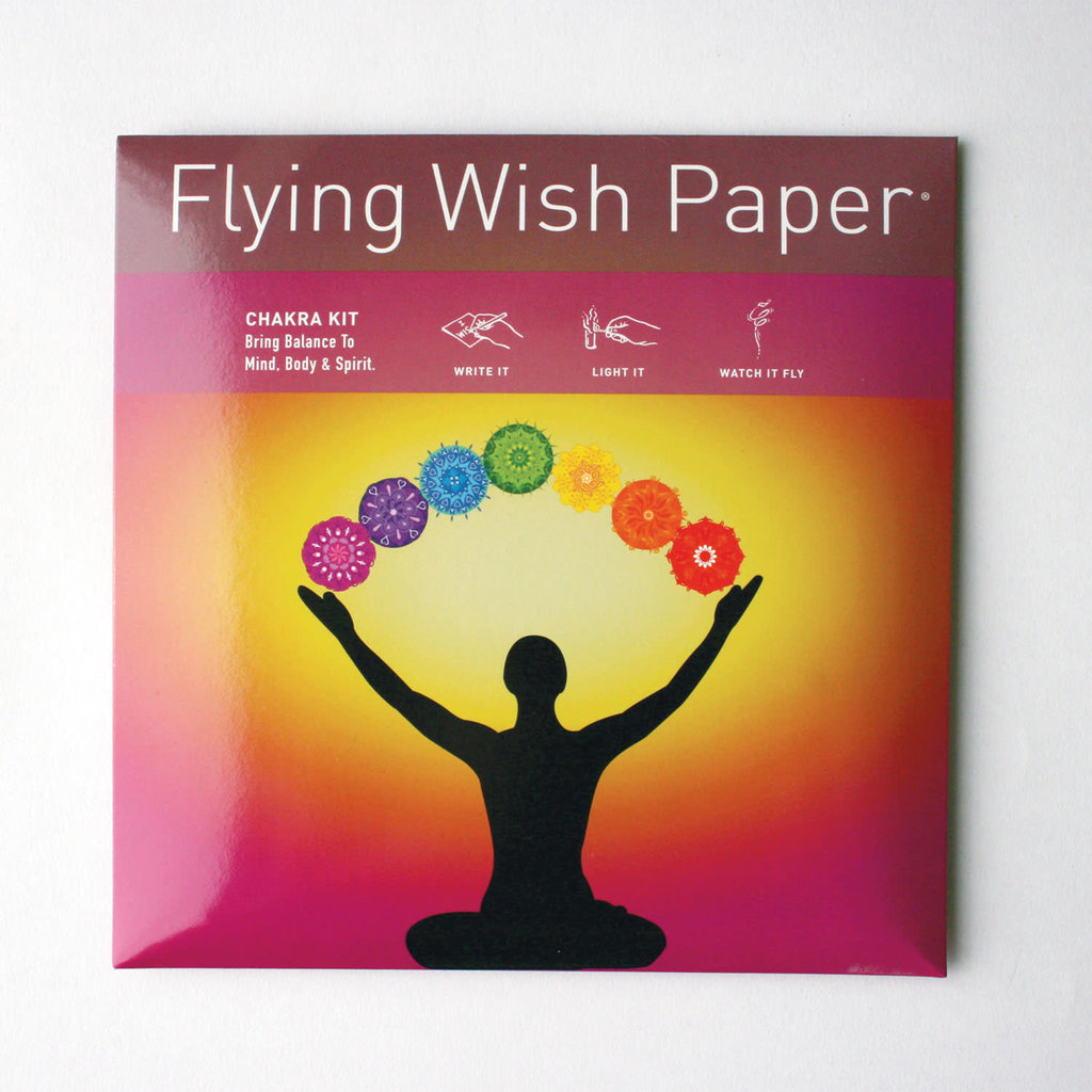 Flying Wish Paper Chakra Large Flying Wish Kit
