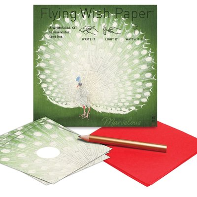Peacock Flying Wish Paper Kit