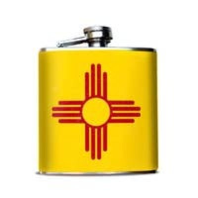 Flask New Mexico Zia Yellow & Red