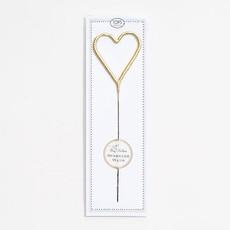 """Big Golden Heart Sparkler Wand 8"""""""