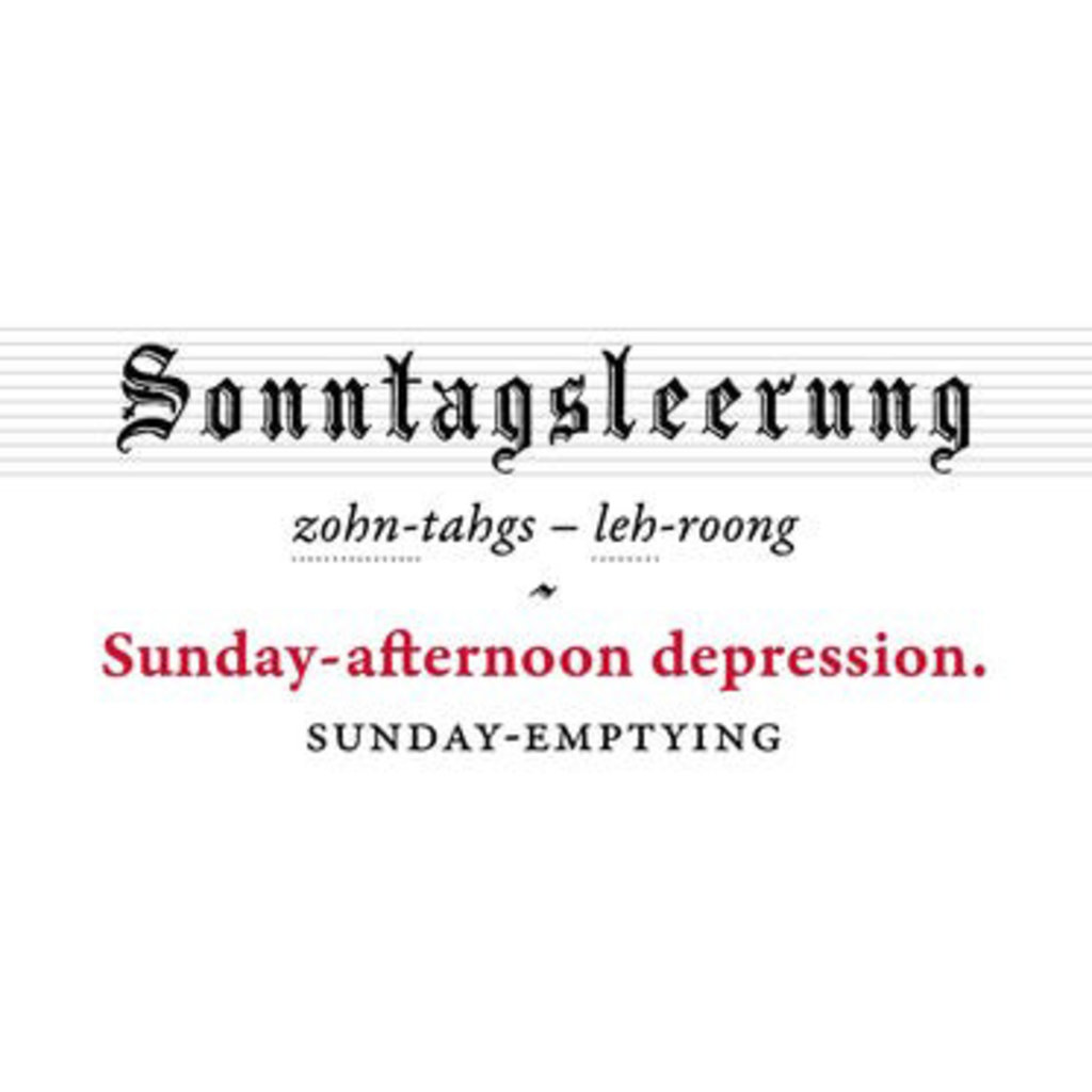 Schottenfreude- German Words for The Human Condition