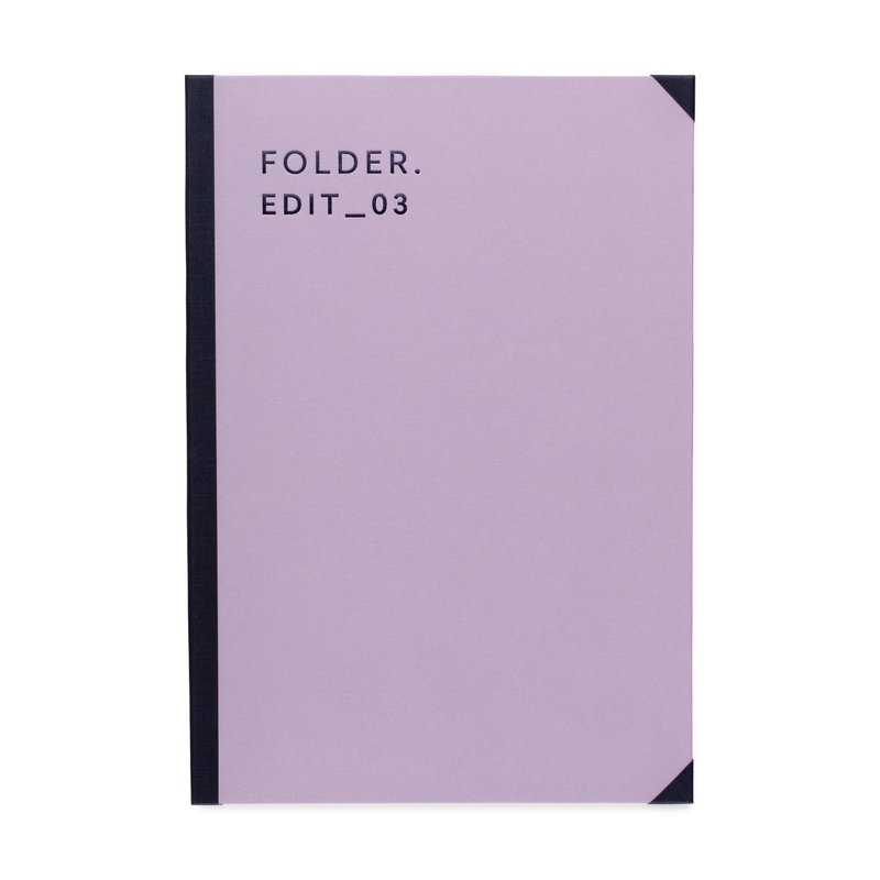 Canvas Cover Folder Dusty Lavender