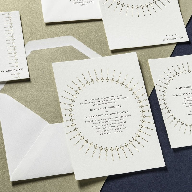 Catherine & Blake Letterpress Wedding Suite