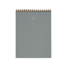 Office Notepad CharcoalGrey Linen