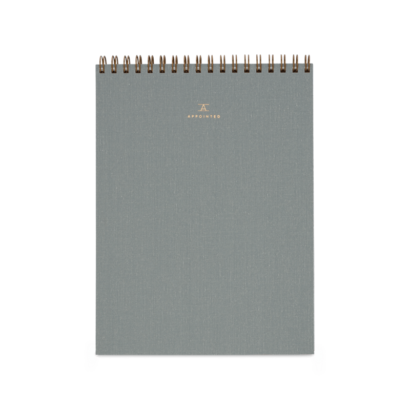 Office Notepad CharcoalGrey Linen