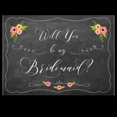 Be My Bridesmaid sign