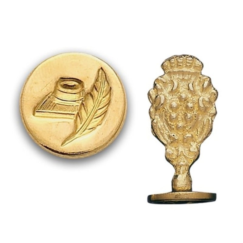 Quill & Pen Brass Wax Seal Stamp
