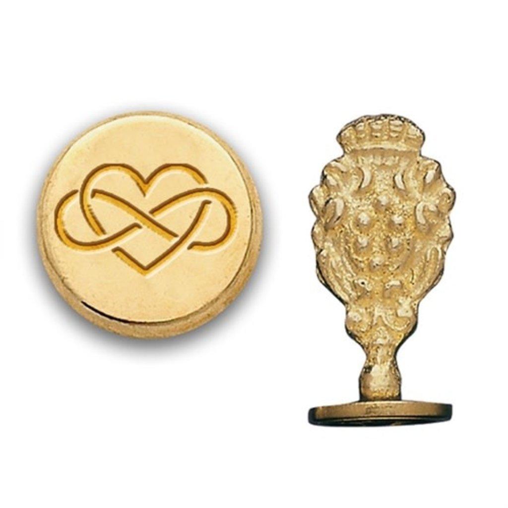 Heart Infinity Brass Wax Seal Stamp