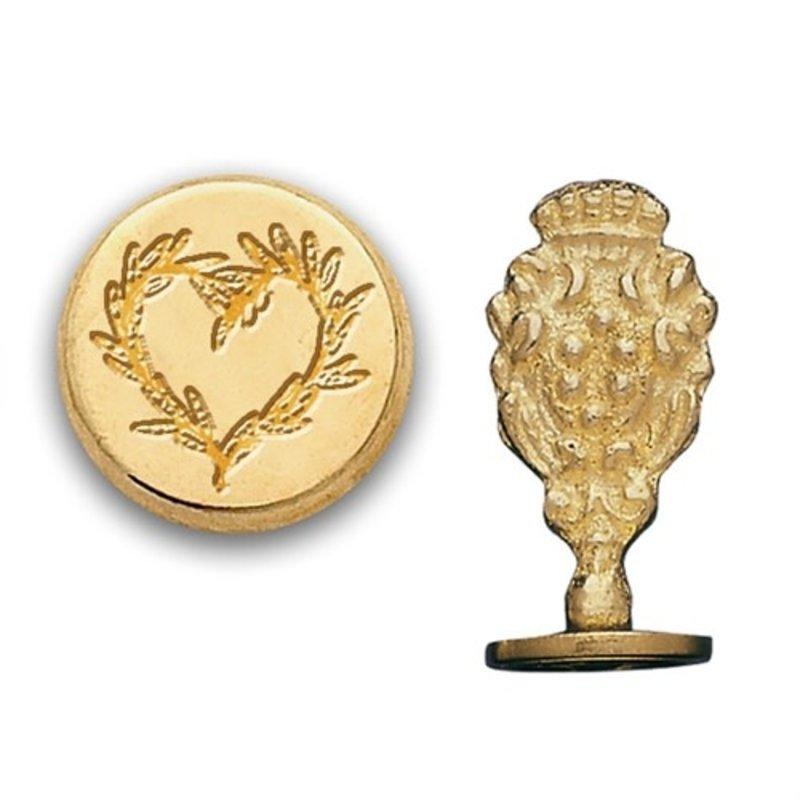 Heart Branch Brass Wax Seal Stamp