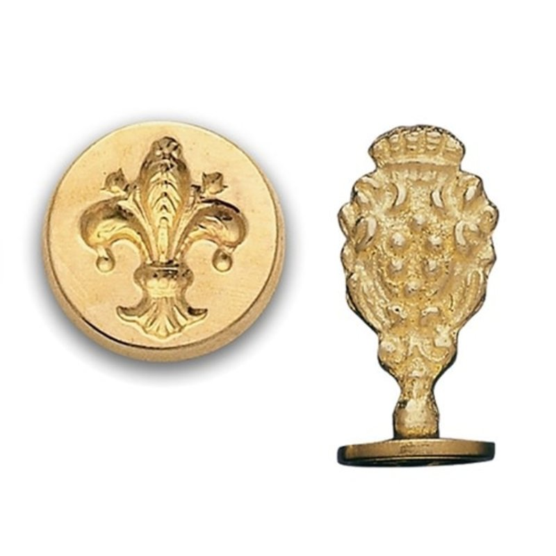 Fleur de Lis Brass Wax Seal Stamp