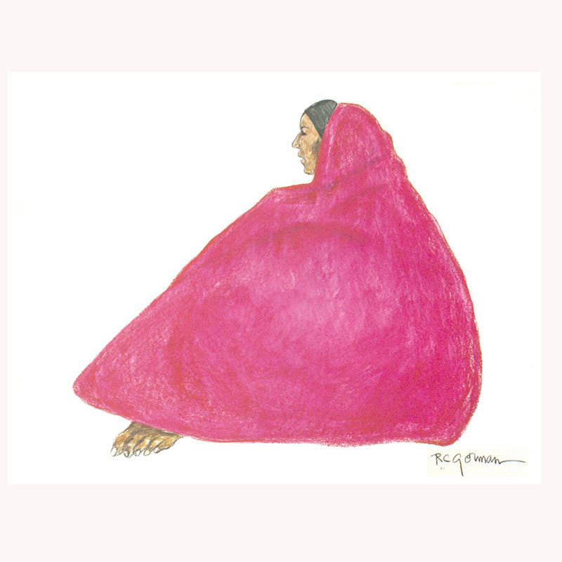 Woman With Pink Shawl by R.C. Gorman Boxed Notecards