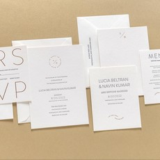 Lucia + Navin Custom Invitation Suite