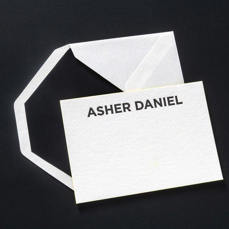 Asher Letterpress Correspondence Cards