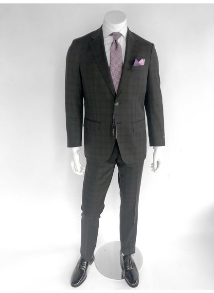 Max Davoli Black T/T  Plaid Suit