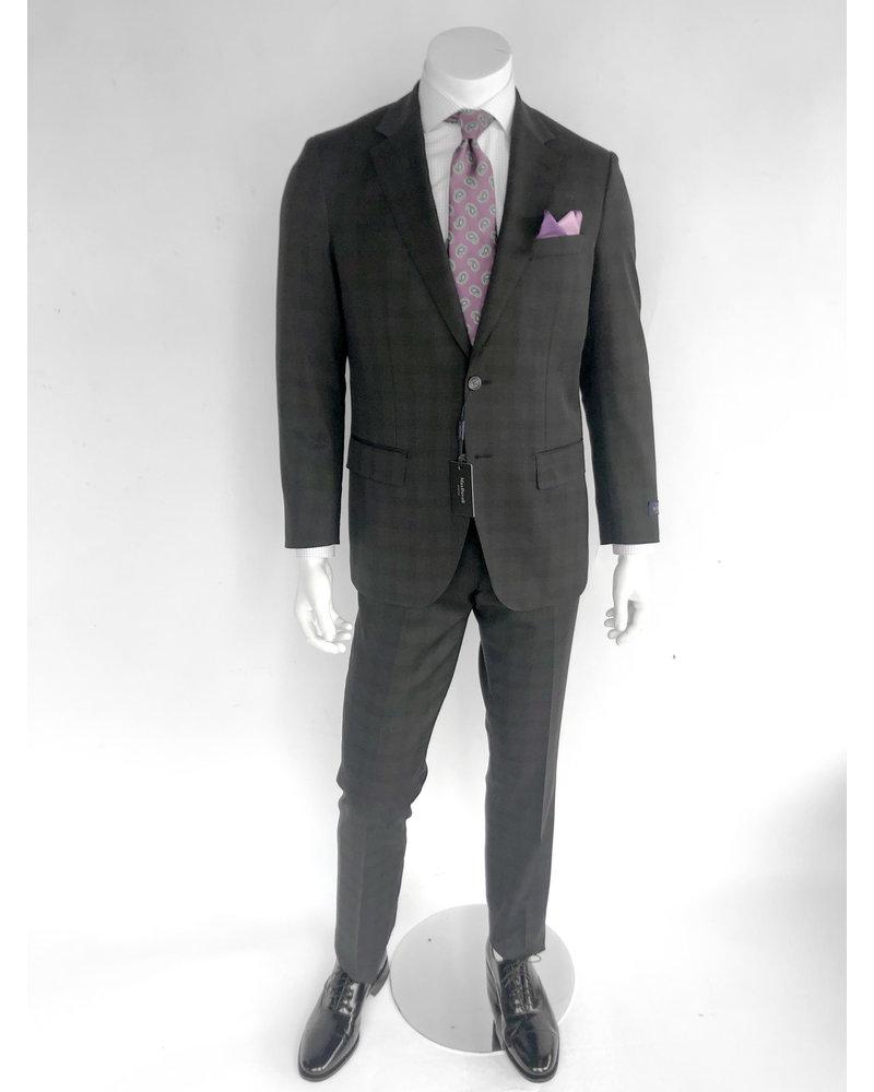 Max Davoli Max Davoli Black T/T Plaid Suit
