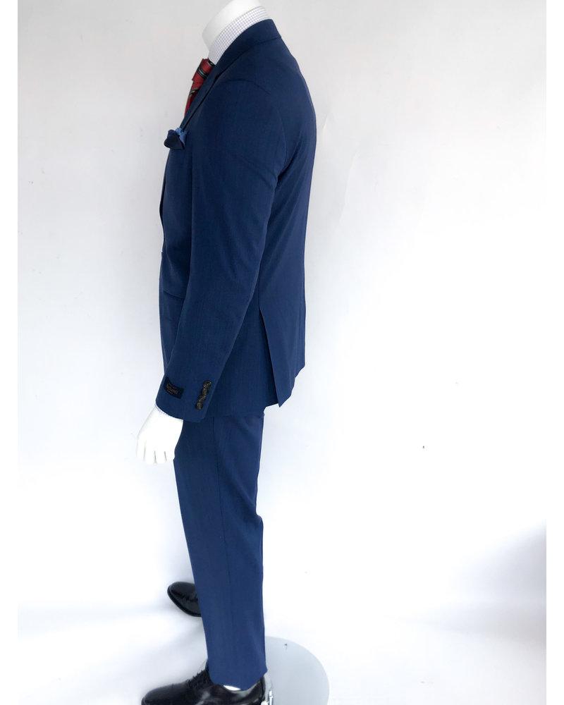 Max Davoli Max Davoli Textured Blue Suit