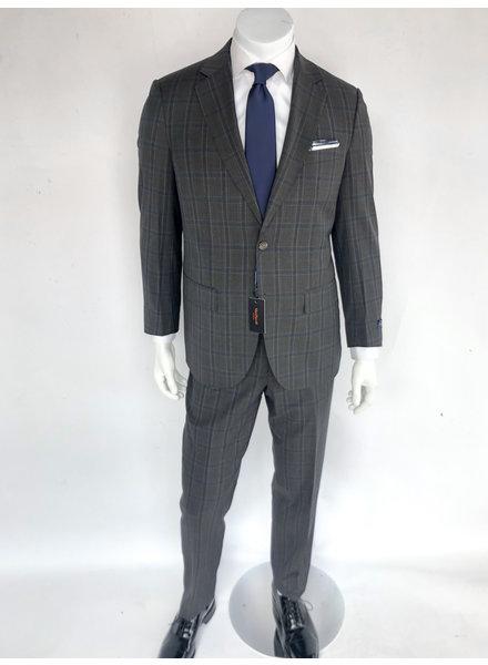 Max Davoli Charcoal Plaid Suit
