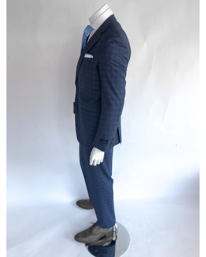 Max Davoli Max Davoli  Blue Plaid Suit
