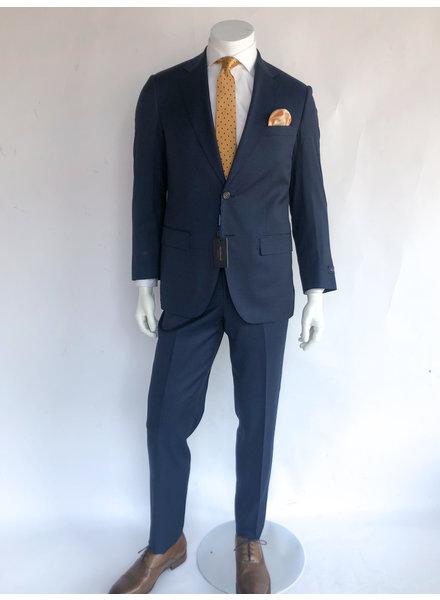 Max Davoli Blue Check Suit