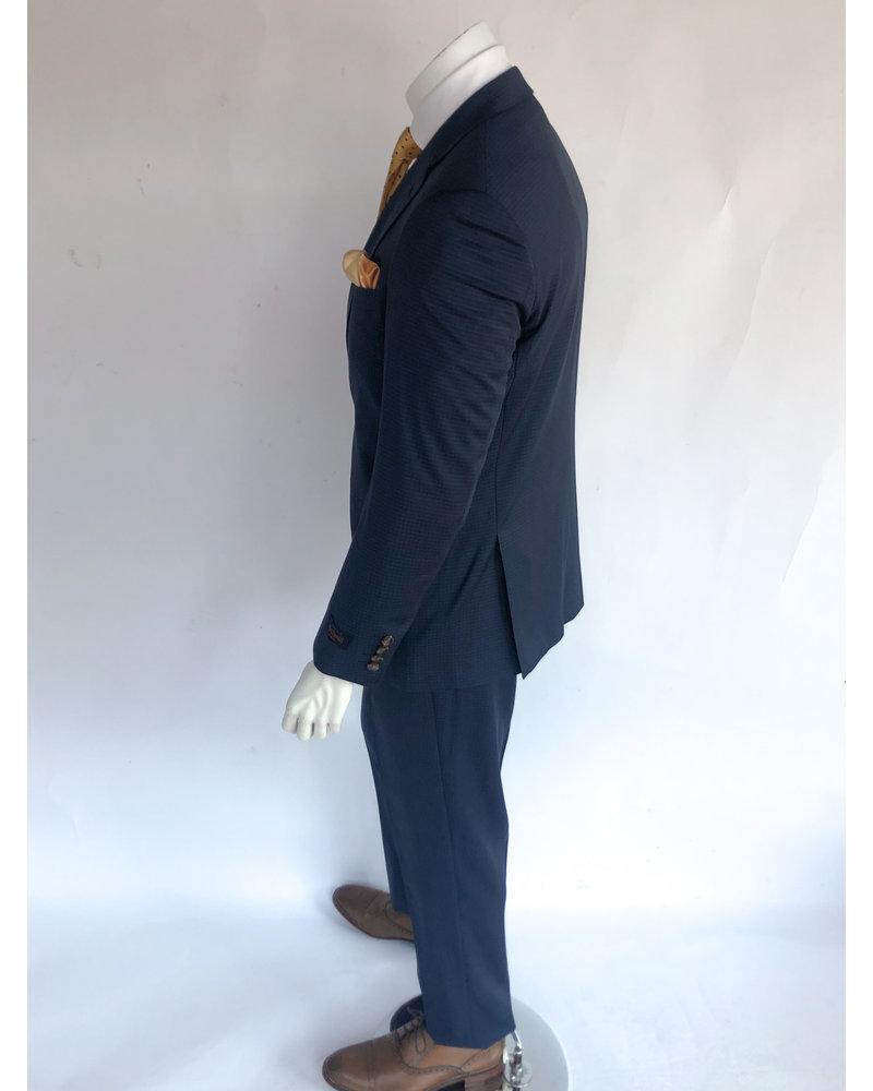 Max Davoli Max Davoli Blue Check Suit