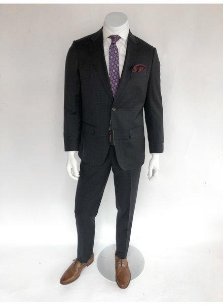 Max Davoli Navy Check Suit