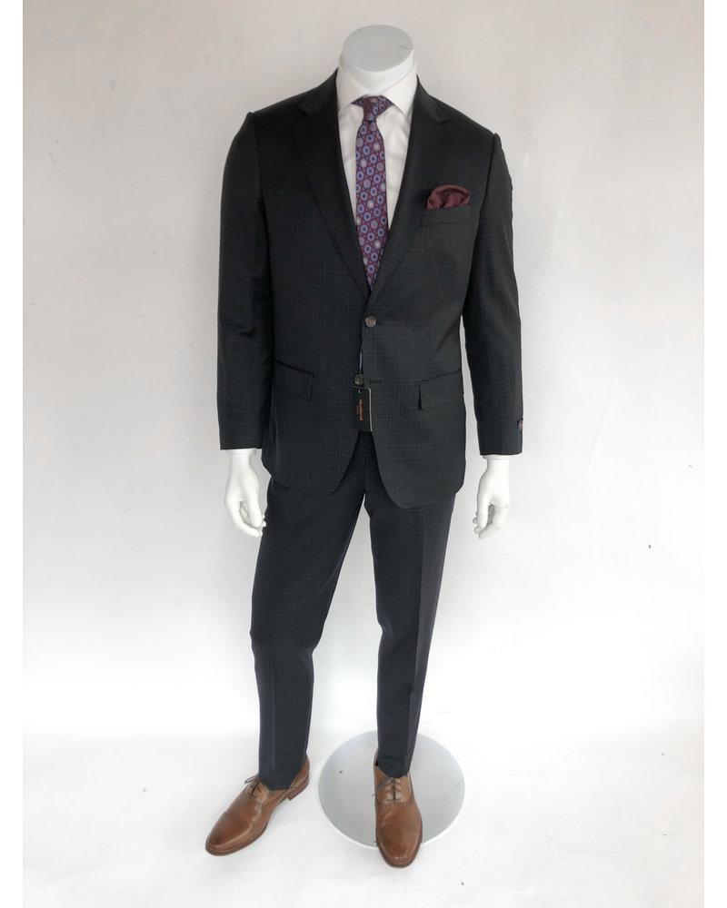 Max Davoli Max Davoli Navy Check Suit