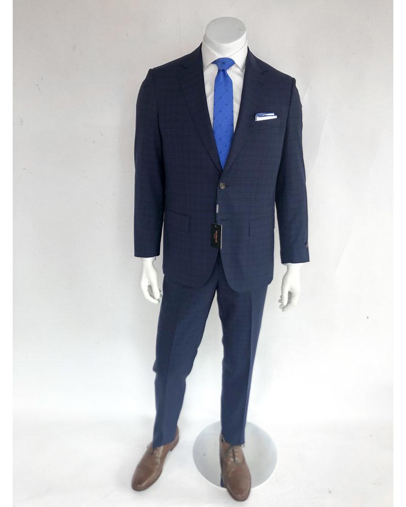 Max Davoli Max Davoli  Navy Plaid Suit