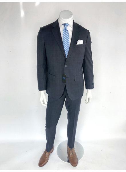 M2 Navy Plaid Suit