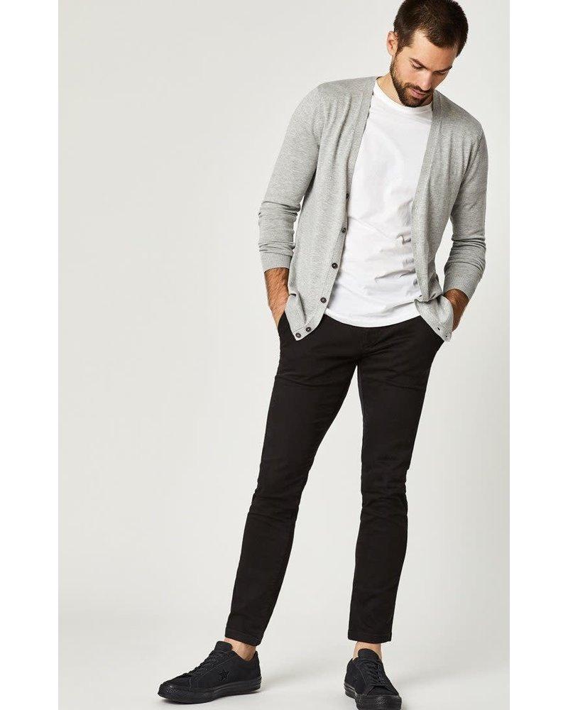 Mavi Jeans Johnny Slim Leg Black Sateen Twill